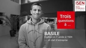 Basile étudiant en alternance à l'ISEN en 5eme année chef d'entreprise