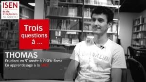 Thomas étudiant ISEN apprenti SNCF en 5eme année
